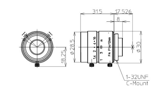 Kowa LM12JC Mechanical Drawing