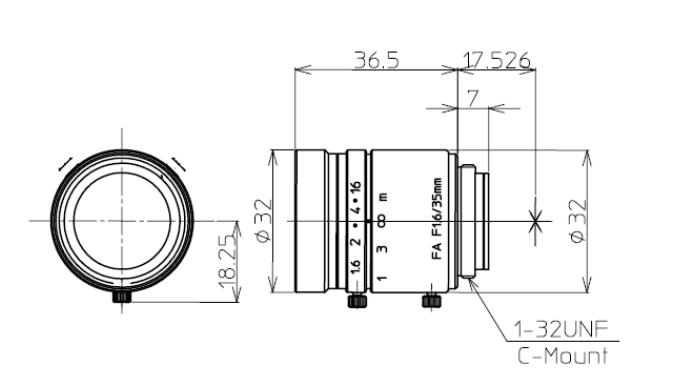 Kowa LM35JC Dimensions