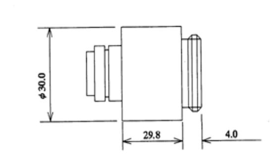 Computar TEC-2X Adapter Dimensions