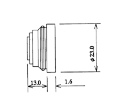 Computar TEC-75X Adapter Dimensions