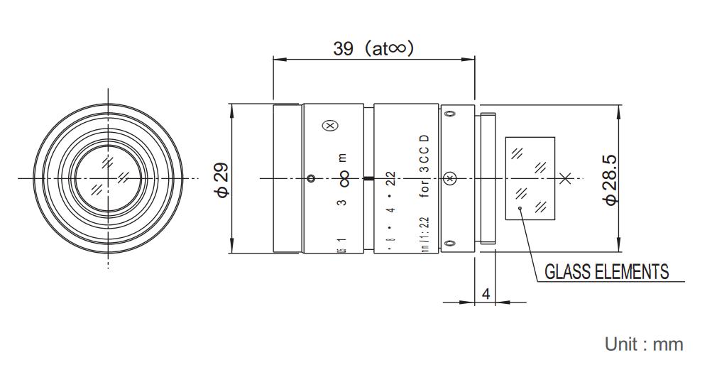 Fujinon TF25DA-8 Dimensions