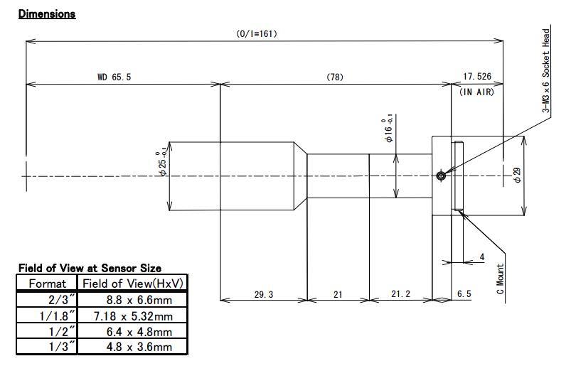 Compuitar TEC-M1065MP Telecentric Lens
