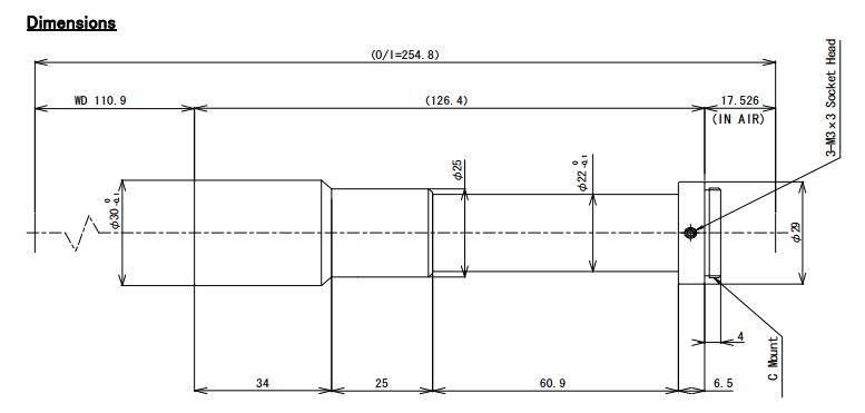 Computar TEC-M20110MP Dimensions
