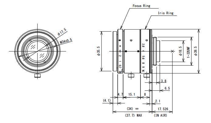 Computar V2528-MYP Large Format Lens