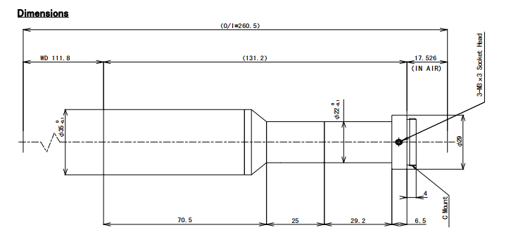 TEC-M05110MP Dimensions