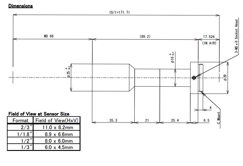 Computar TEC-M0865MP Telecentric Lens