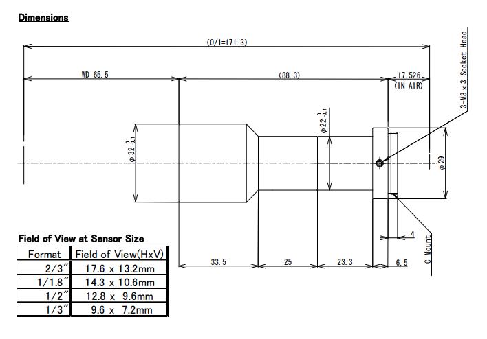 Computar TEC-0565Mp Telecentric Lens