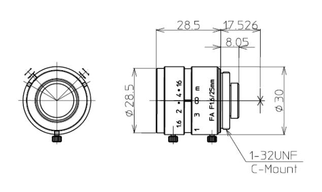 Kowa LM25JC Dimensions